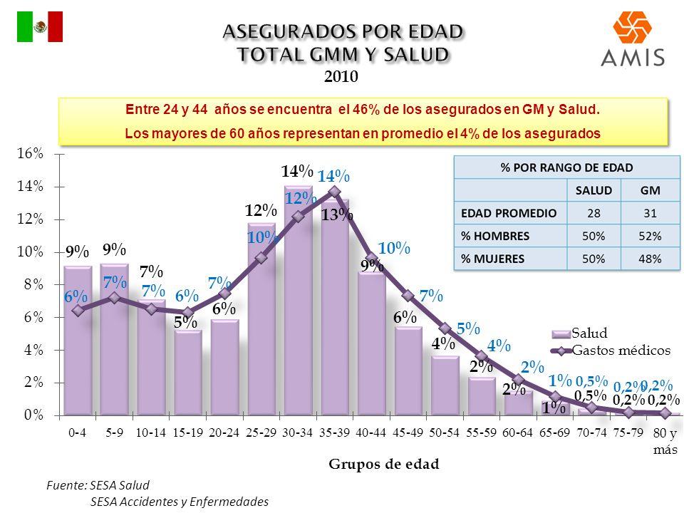 ASEGURADOS POR EDAD TOTAL GMM Y SALUD