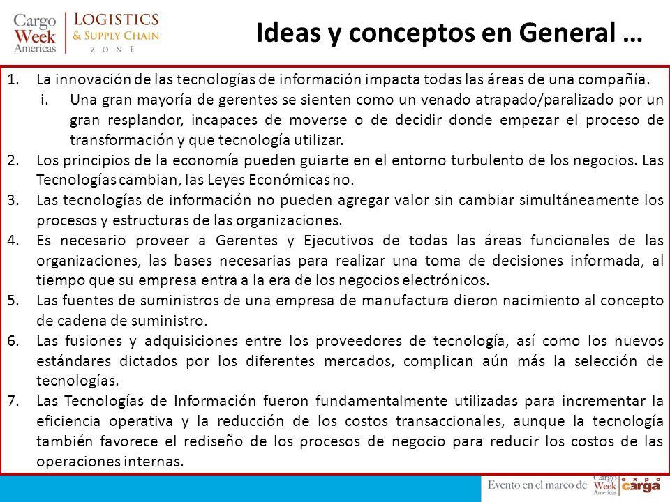 Ideas y conceptos en General …