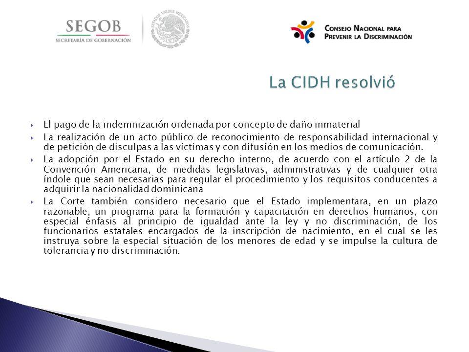 La CIDH resolvió El pago de la indemnización ordenada por concepto de daño inmaterial.