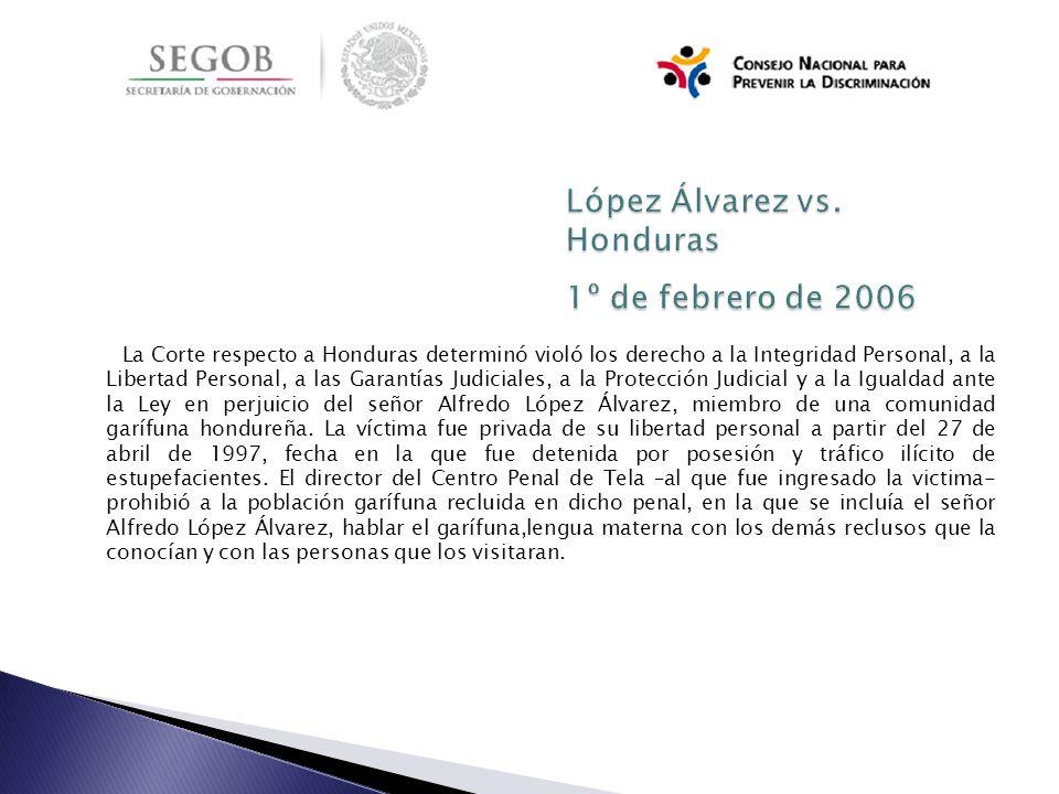 López Álvarez vs. Honduras 1º de febrero de 2006