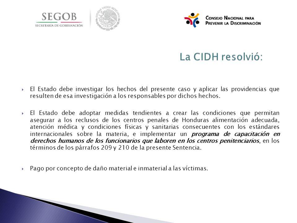 La CIDH resolvió:
