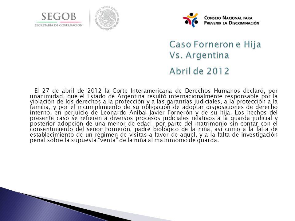 Caso Forneron e Hija Vs. Argentina Abril de 2012
