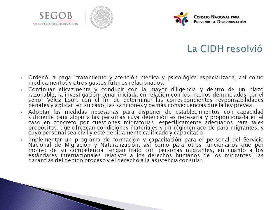 La CIDH resolvió