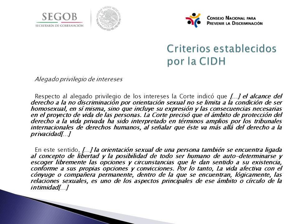 Criterios establecidos por la CIDH