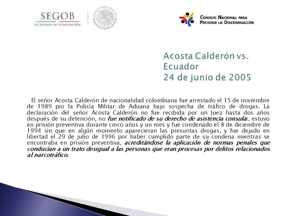 Acosta Calderón vs. Ecuador 24 de junio de 2005
