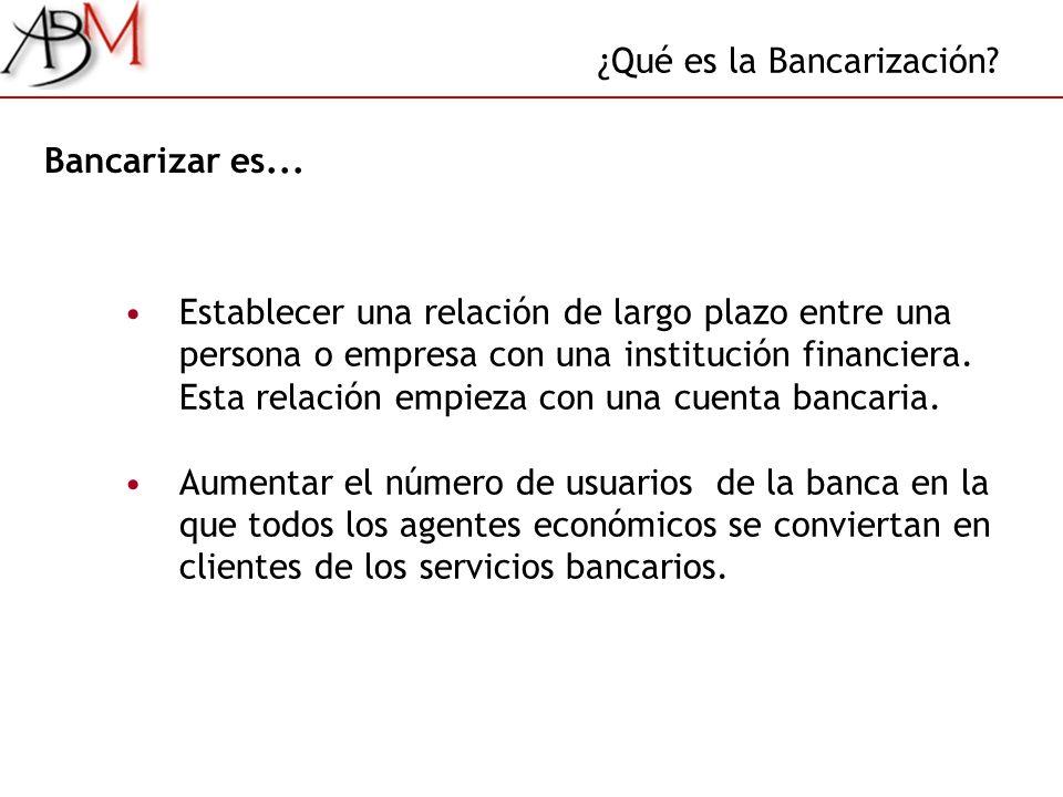 ¿Qué es la Bancarización