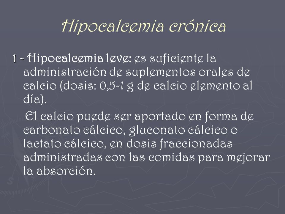 Hipocalcemia crónica