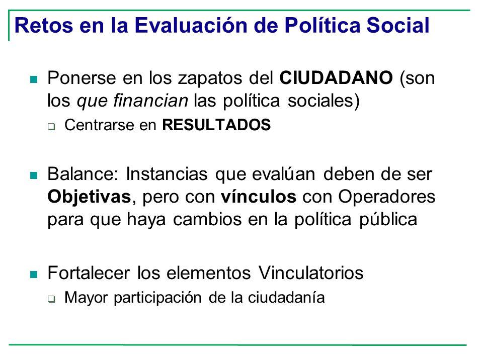 Retos en la Evaluación de Política Social