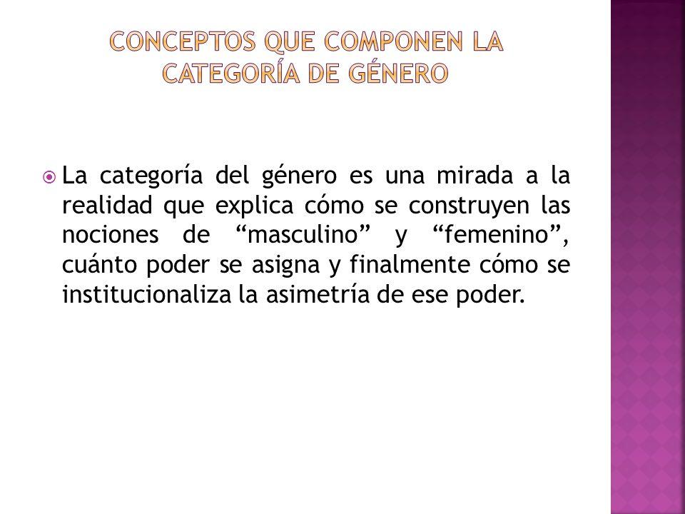 Conceptos que componen la categoría de género