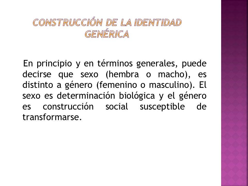 Construcción de la identidad genérica