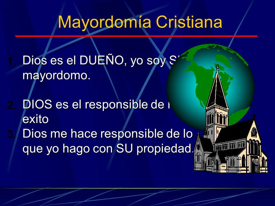 Mayordomía Cristiana Dios es el DUEÑO, yo soy SU mayordomo.
