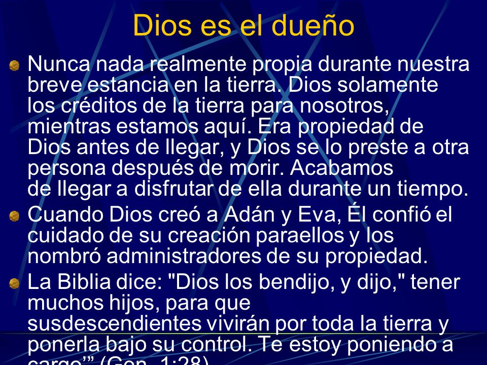 Dios es el dueño