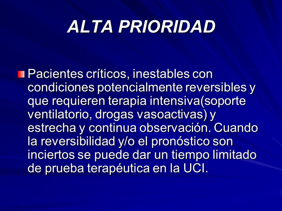 ALTA PRIORIDAD