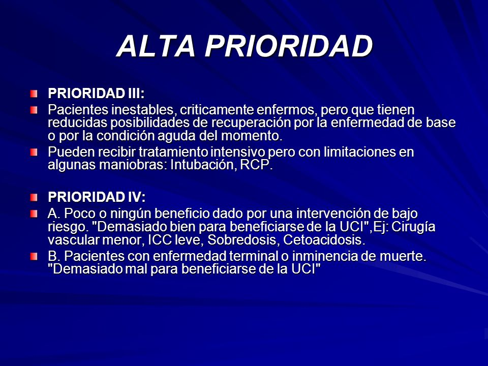 ALTA PRIORIDAD PRIORIDAD III: