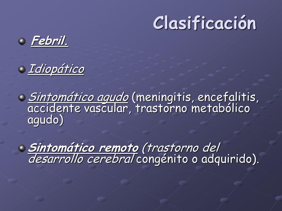 Clasificación Febril. Idiopático