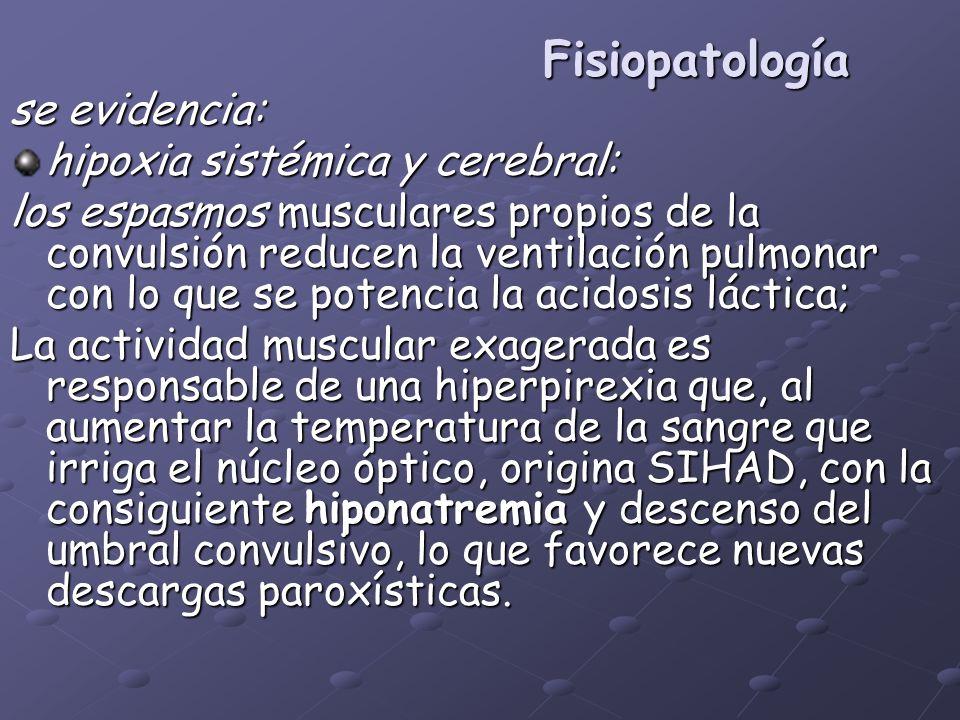 Fisiopatología se evidencia: hipoxia sistémica y cerebral: