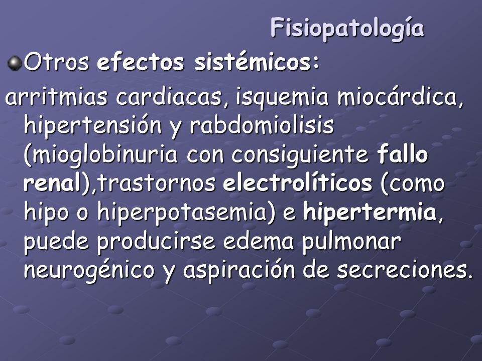 FisiopatologíaOtros efectos sistémicos: