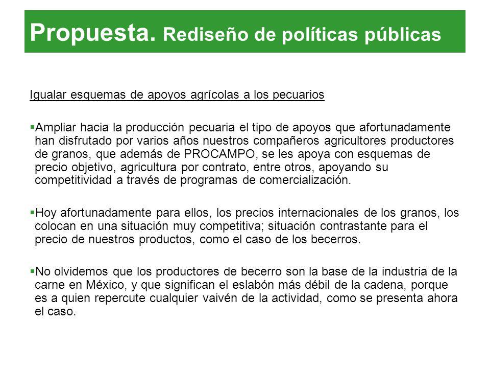 Propuesta. Rediseño de políticas públicas