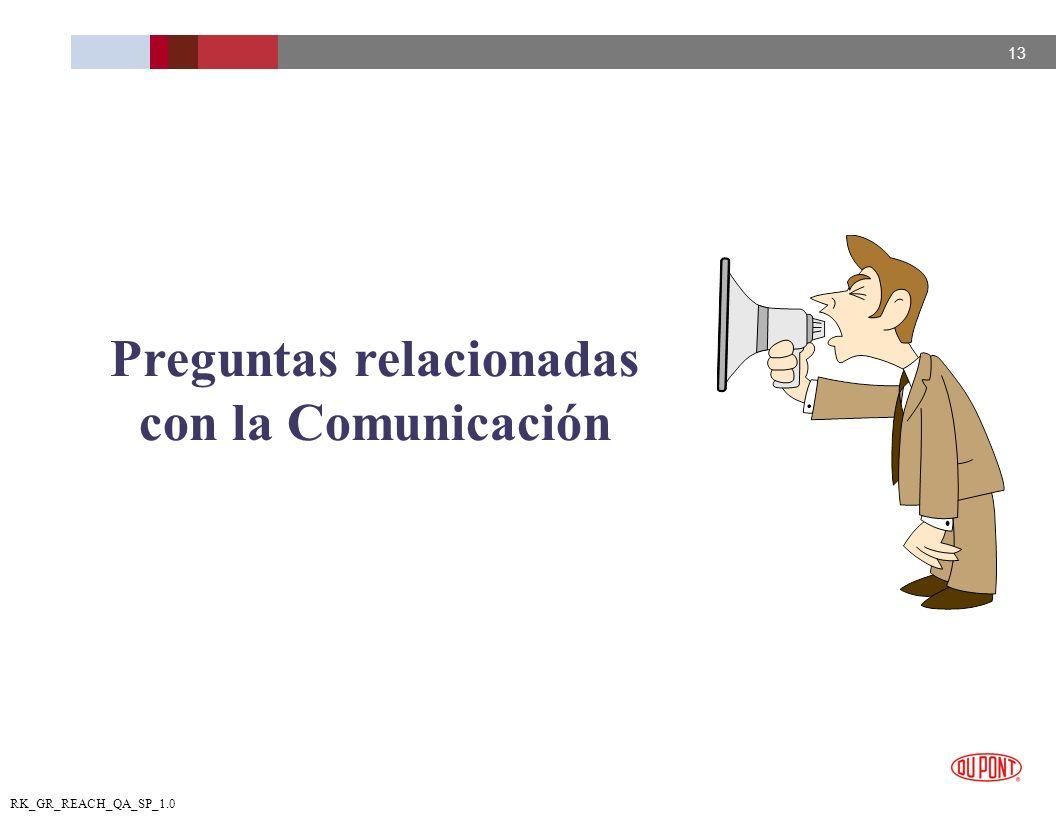 Preguntas relacionadas con la Comunicación