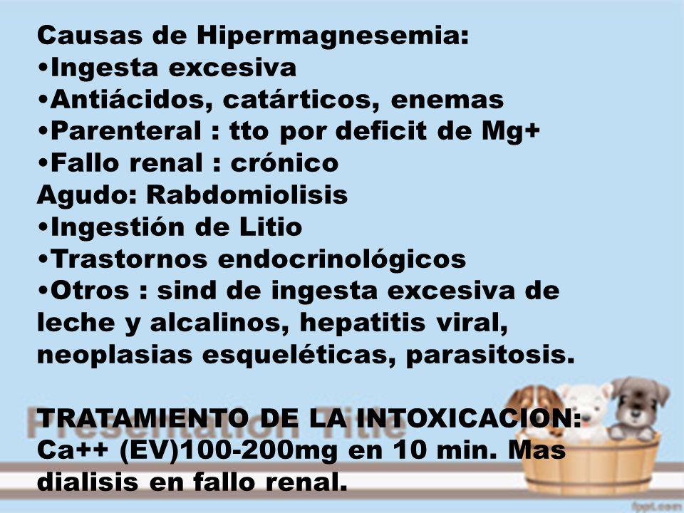 Causas de Hipermagnesemia:
