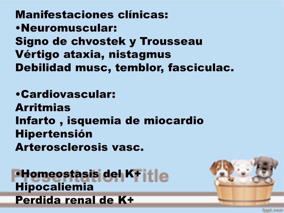 Manifestaciones clínicas:
