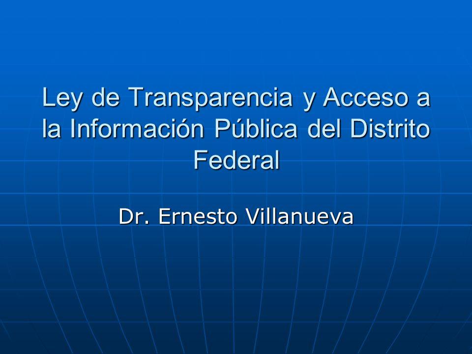 Ley de Transparencia y Acceso a la Información Pública del Distrito Federal