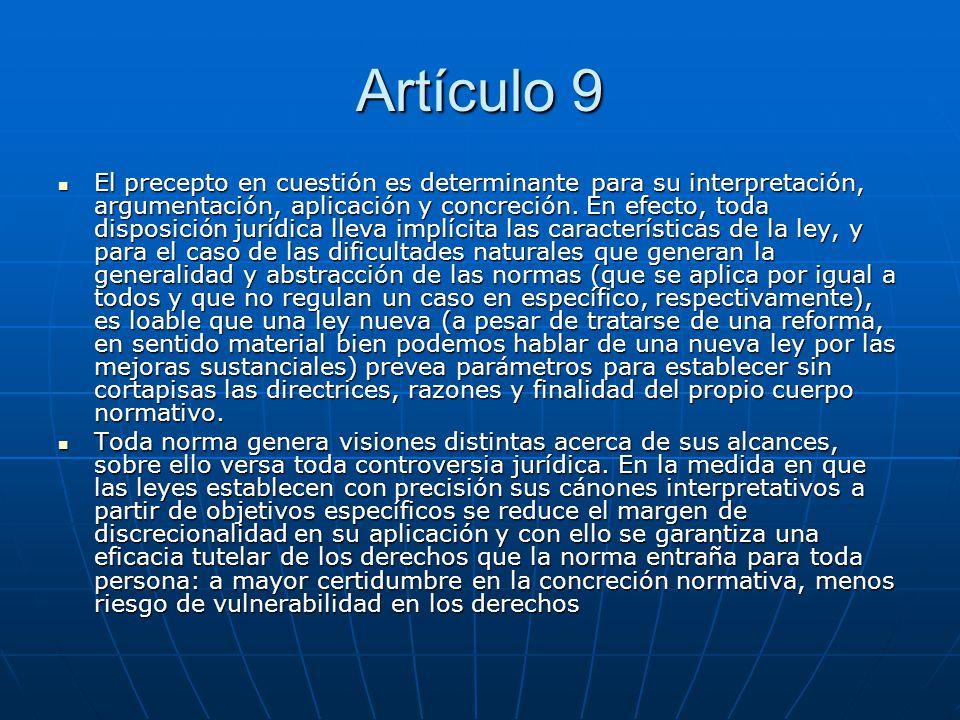 Artículo 9