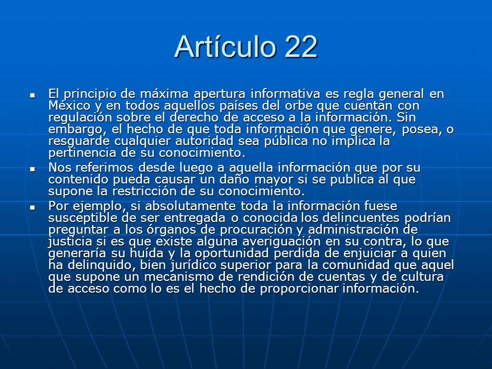 Artículo 22