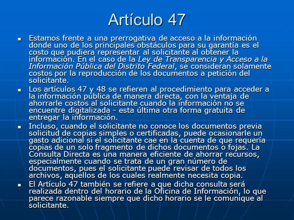 Artículo 47
