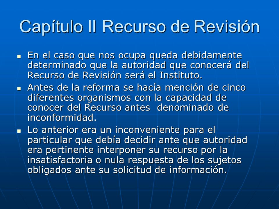 Capítulo II Recurso de Revisión