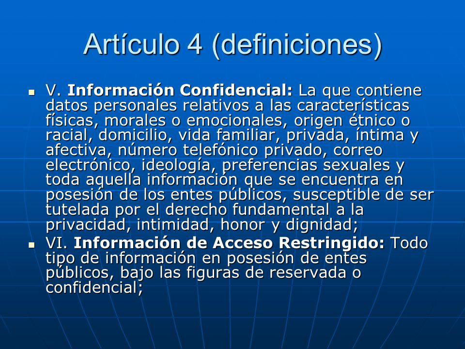 Artículo 4 (definiciones)