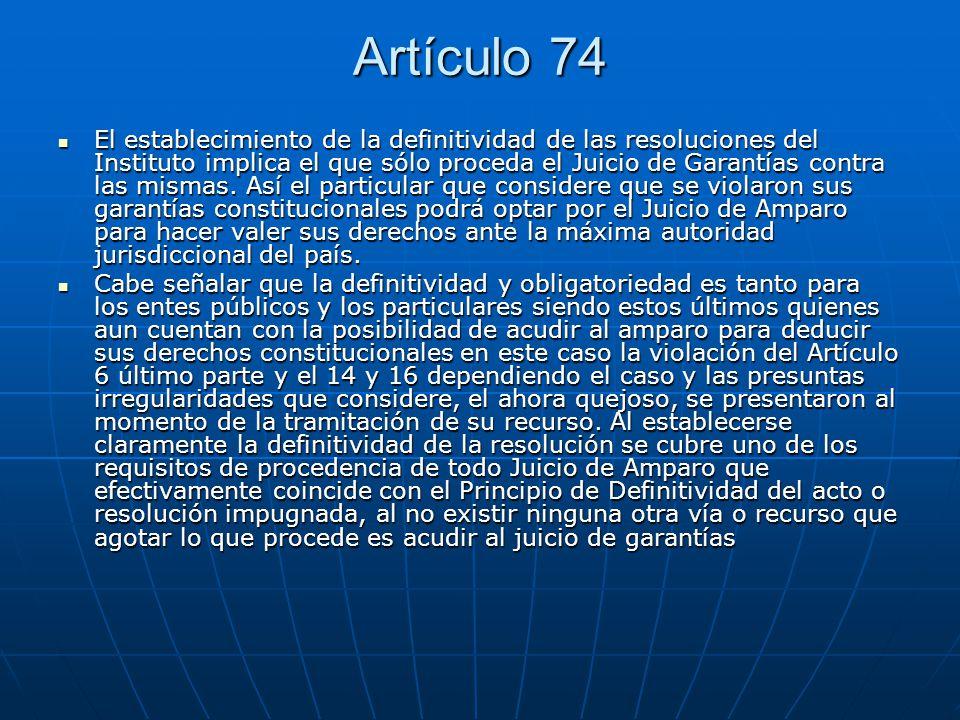 Artículo 74