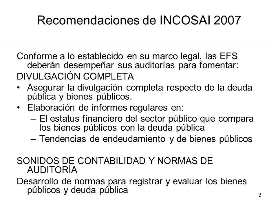 Recomendaciones de INCOSAI 2007