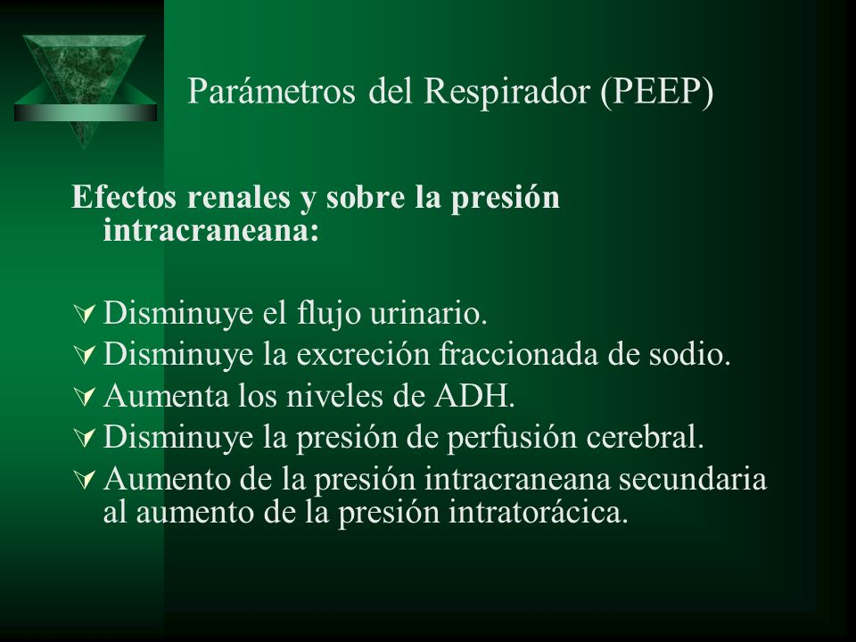 Parámetros del Respirador (PEEP)