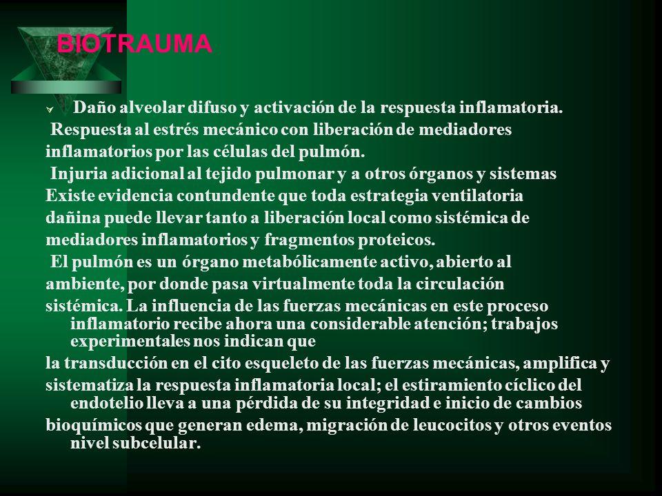 BIOTRAUMA Respuesta al estrés mecánico con liberación de mediadores