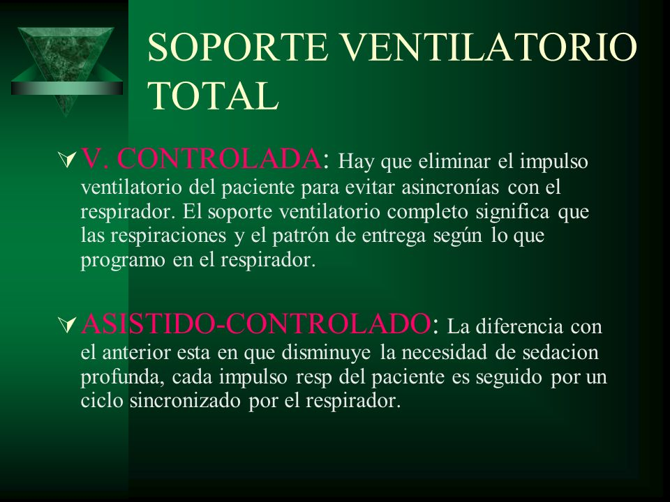 SOPORTE VENTILATORIO TOTAL