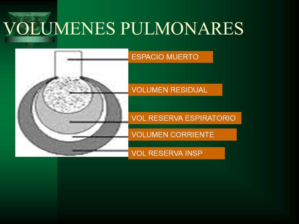 VOLUMENES PULMONARES ESPACIO MUERTO VOLUMEN RESIDUAL