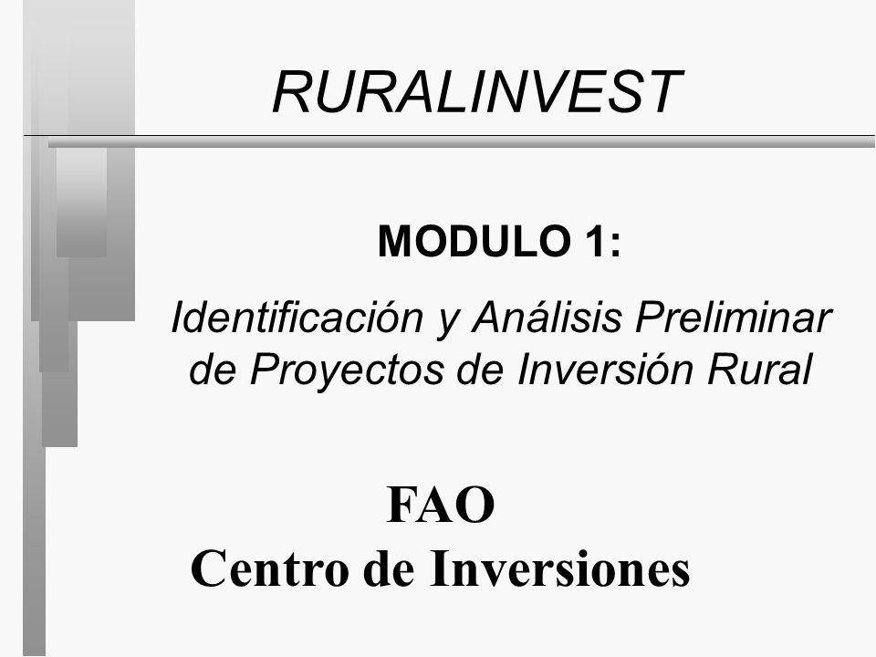 RURALINVEST FAO Centro de Inversiones