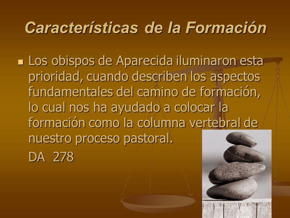 Características de la Formación