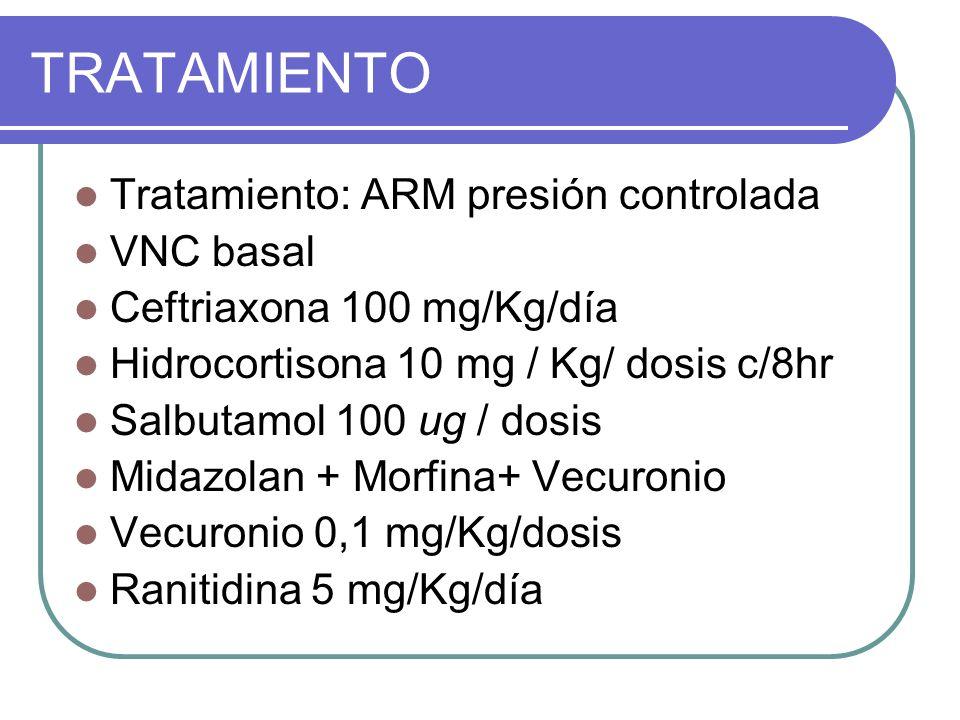 TRATAMIENTO Tratamiento: ARM presión controlada VNC basal