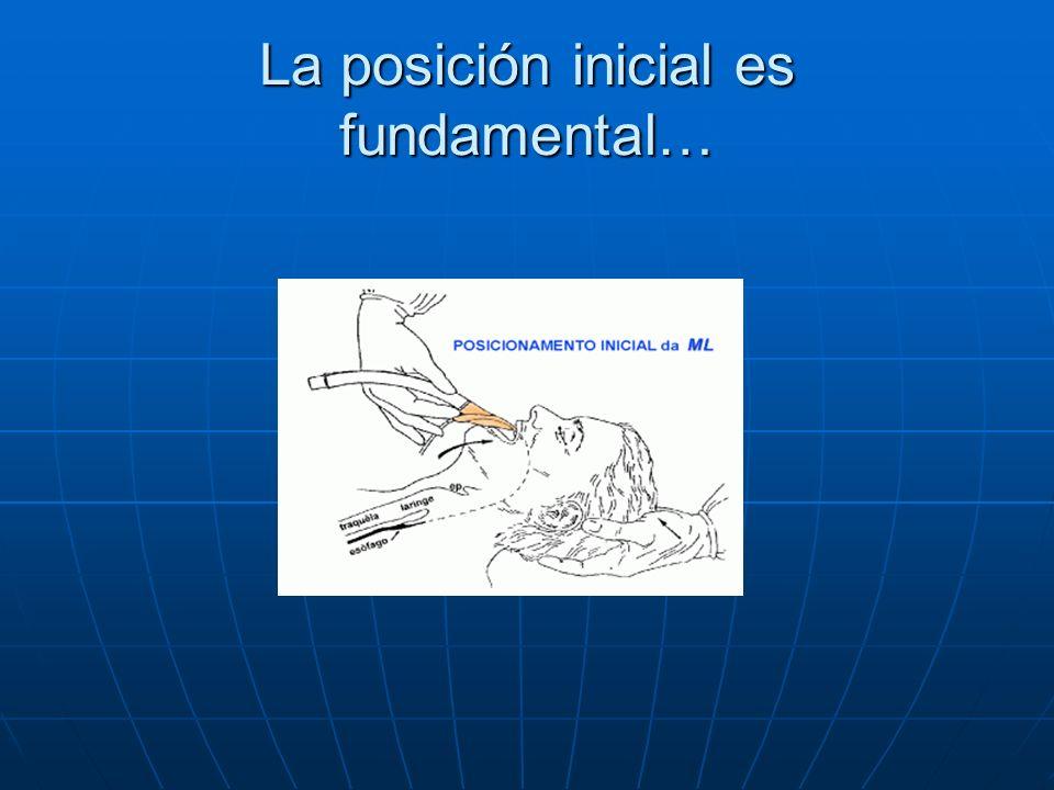 La posición inicial es fundamental…