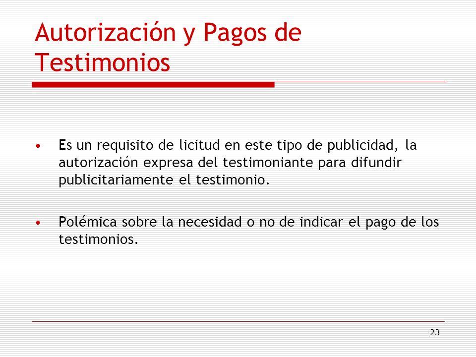 Autorización y Pagos de Testimonios