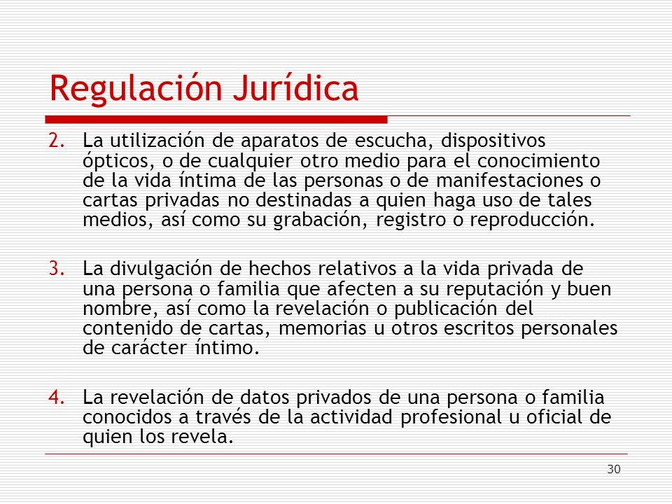 Regulación Jurídica