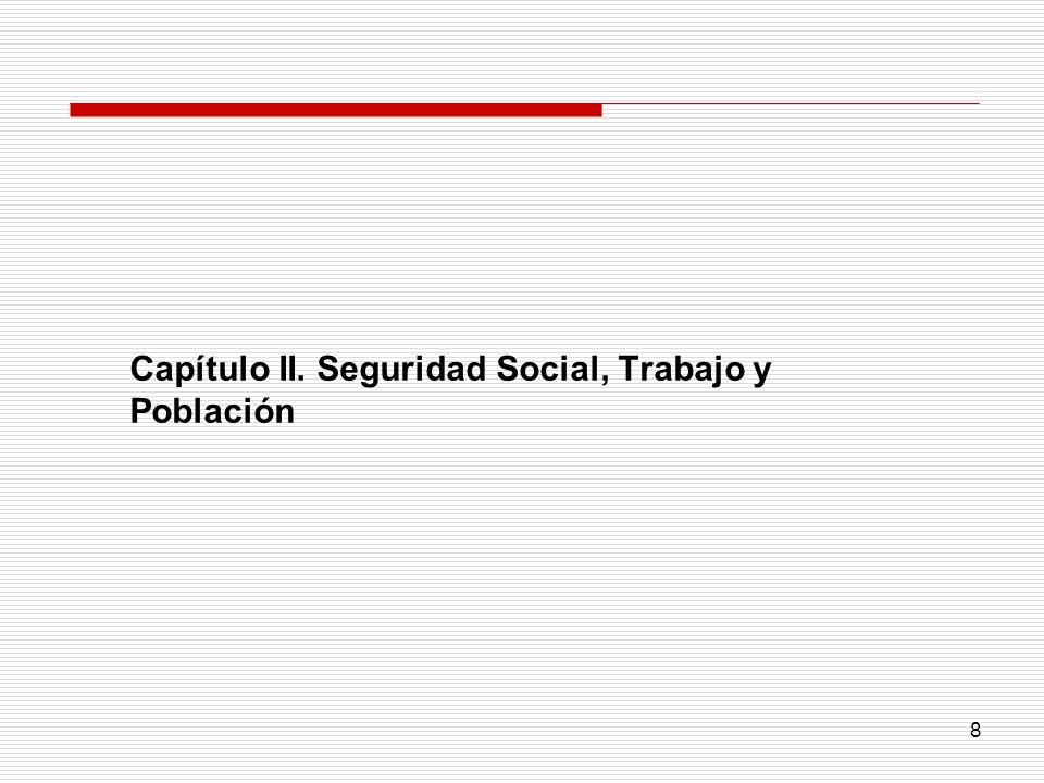 Capítulo II. Seguridad Social, Trabajo y Población