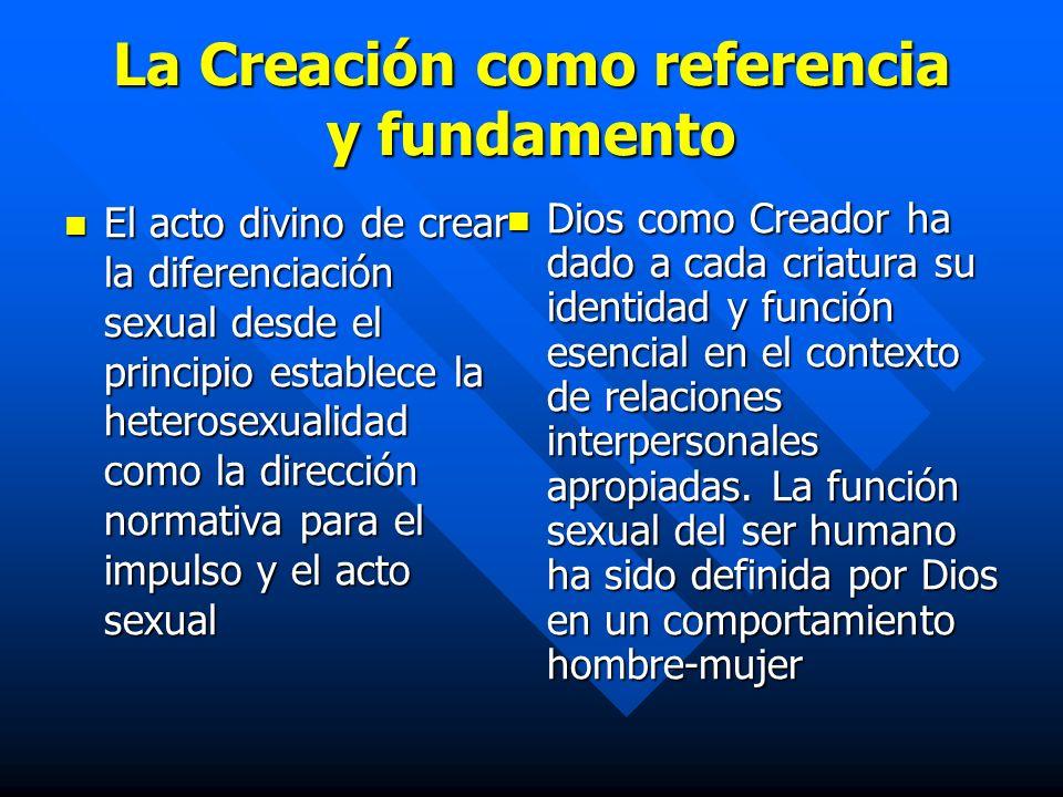 La Creación como referencia y fundamento