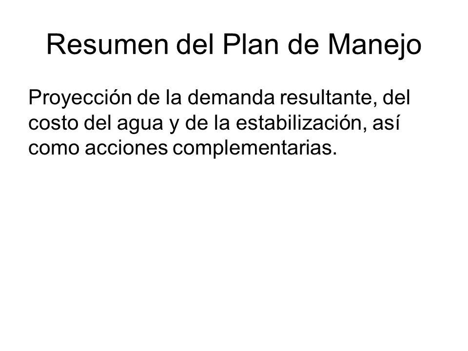 Resumen del Plan de Manejo