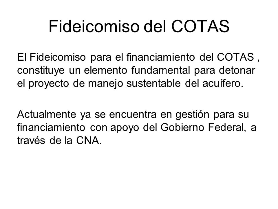 Fideicomiso del COTAS