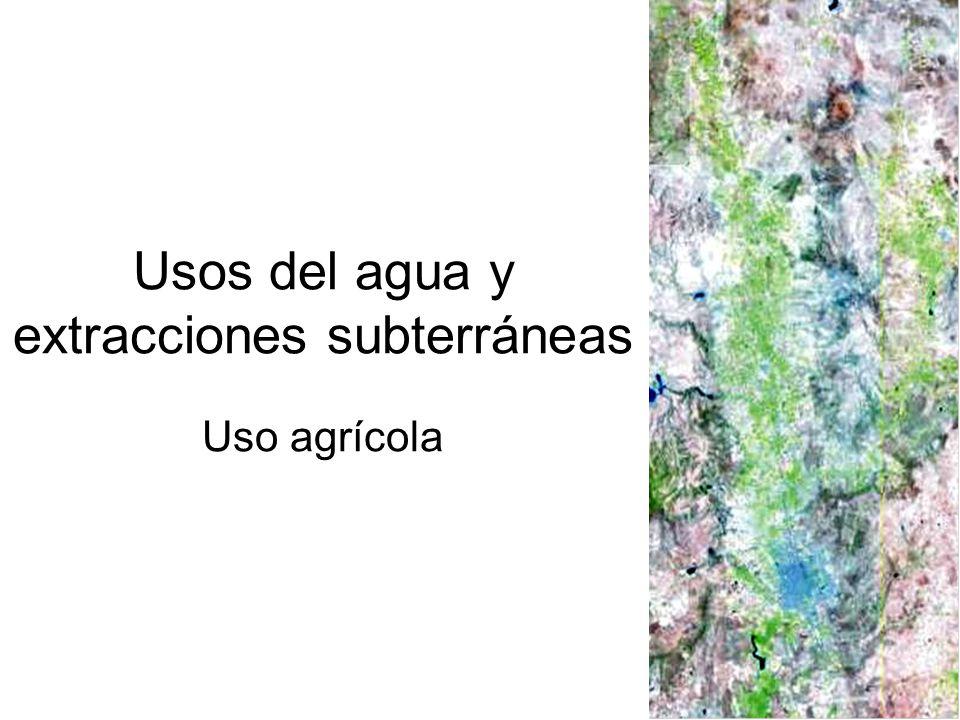 Usos del agua y extracciones subterráneas