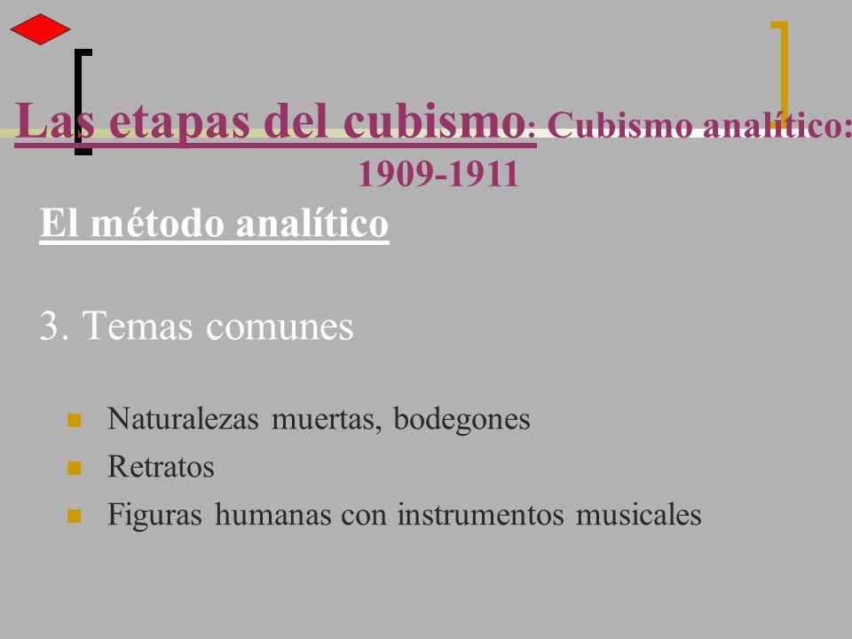 El método analítico 3. Temas comunes
