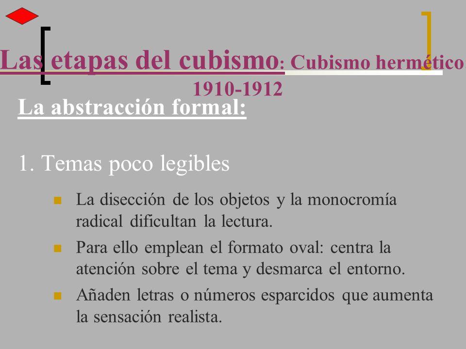 La abstracción formal: 1. Temas poco legibles